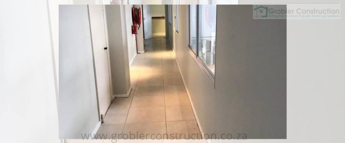 Hallway — in Strand, Western Cape.
