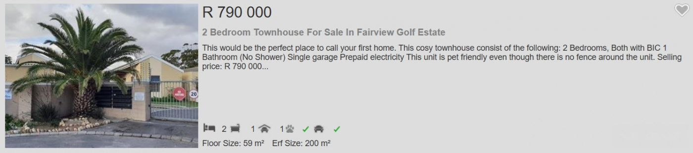 2 Bedroom Townhouse for sale in Fairview Golf Estate