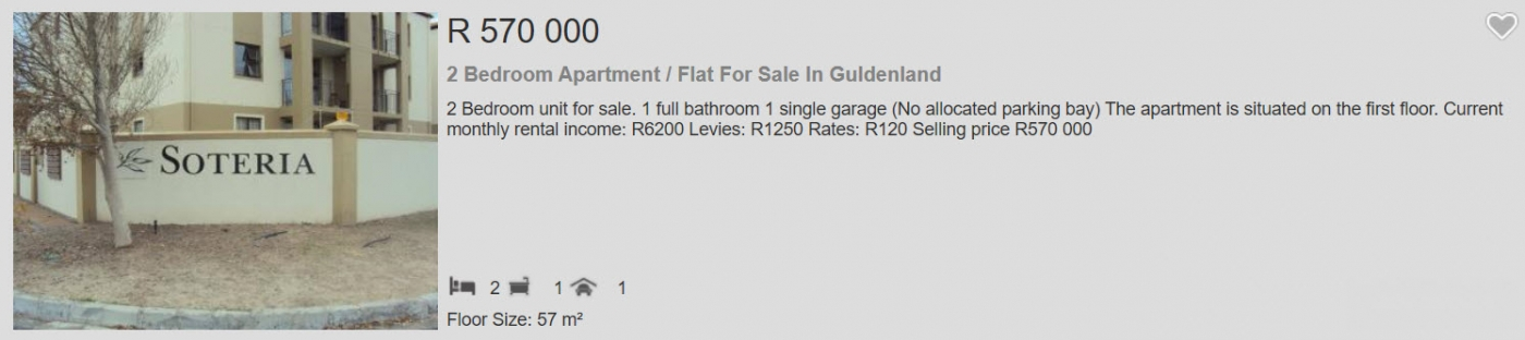 2 Bedroom Apartment  Flat for sale in Guldenland