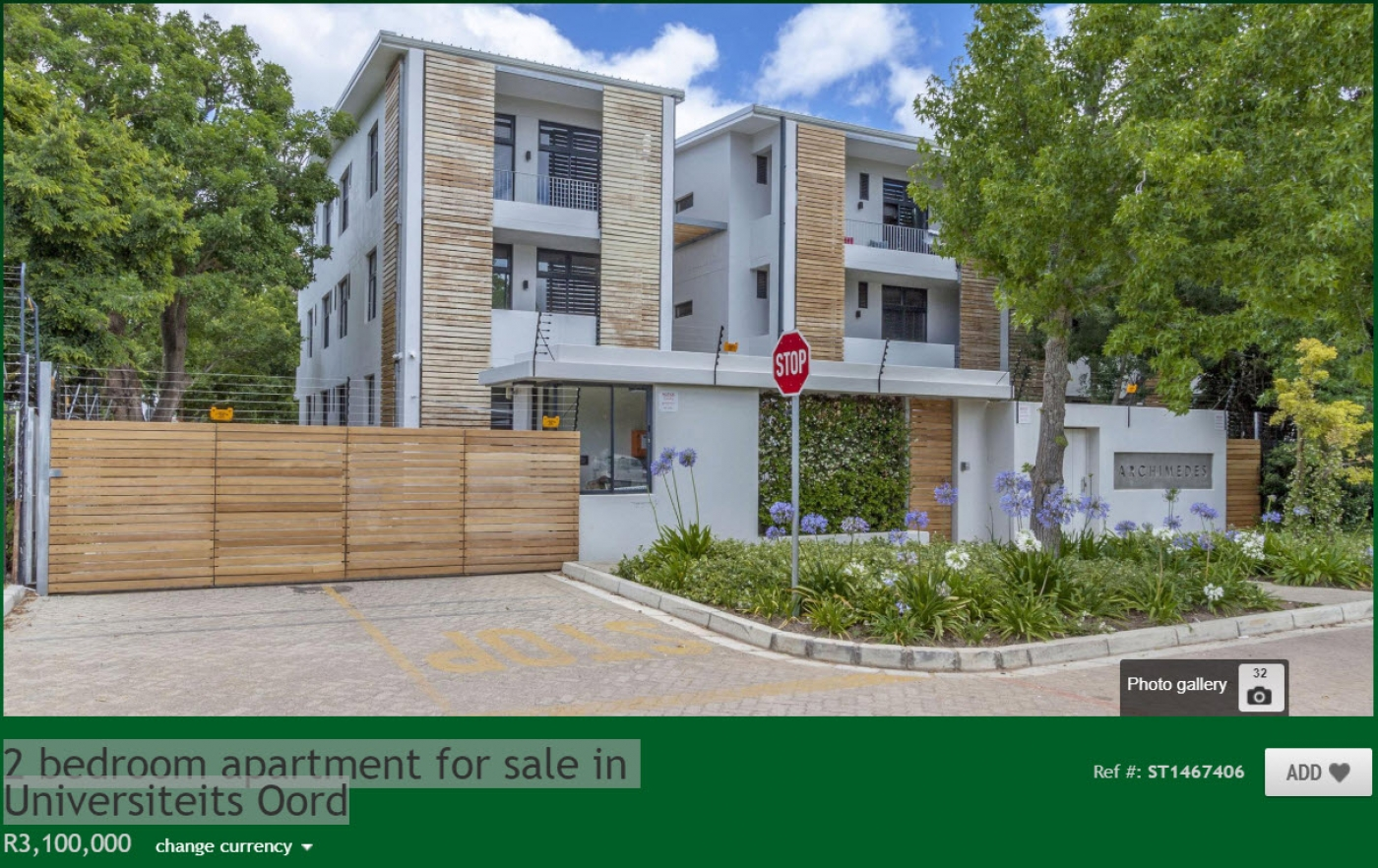 2 bedroom apartment for sale in Universiteits Oord