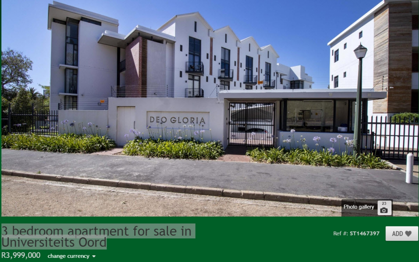 3 bedroom apartment for sale in Universiteits Oord