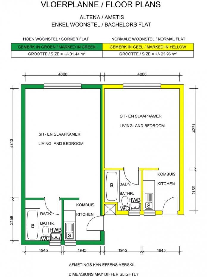 Bachelor Floor Plans
