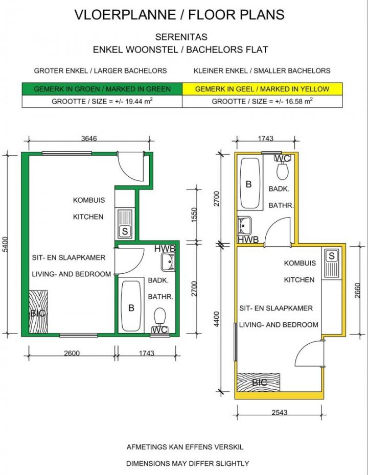Floor Plan Bachelor Flat