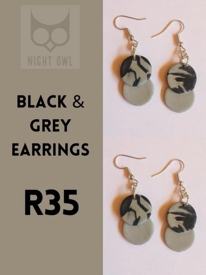 Black & Grey Earrings