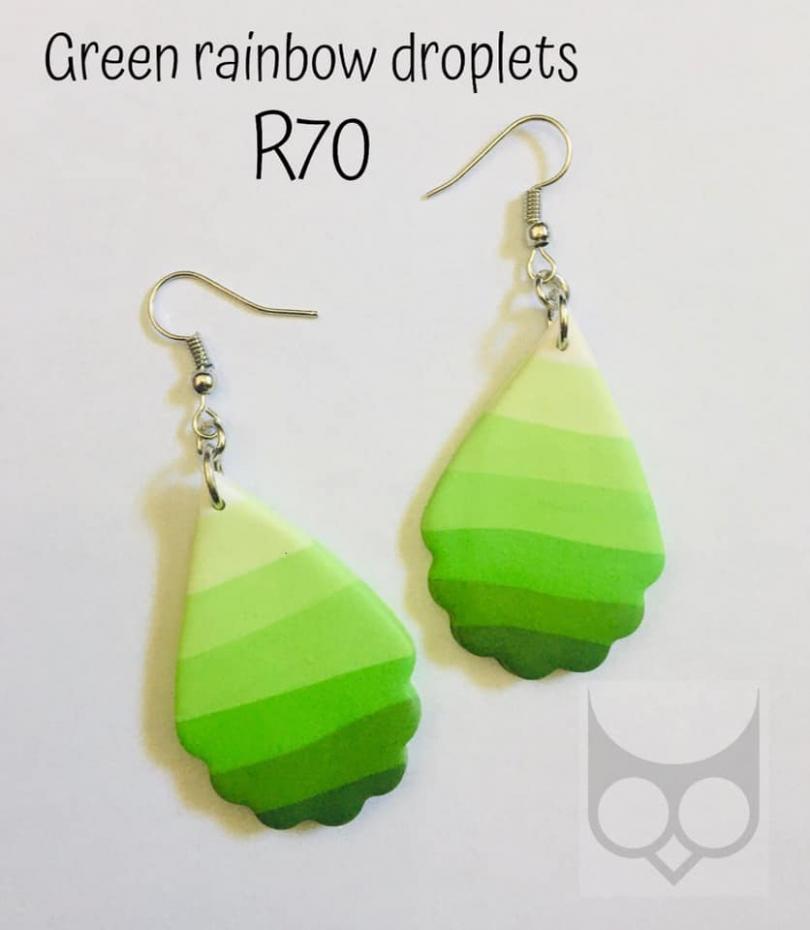 Green Rainbow Droplets