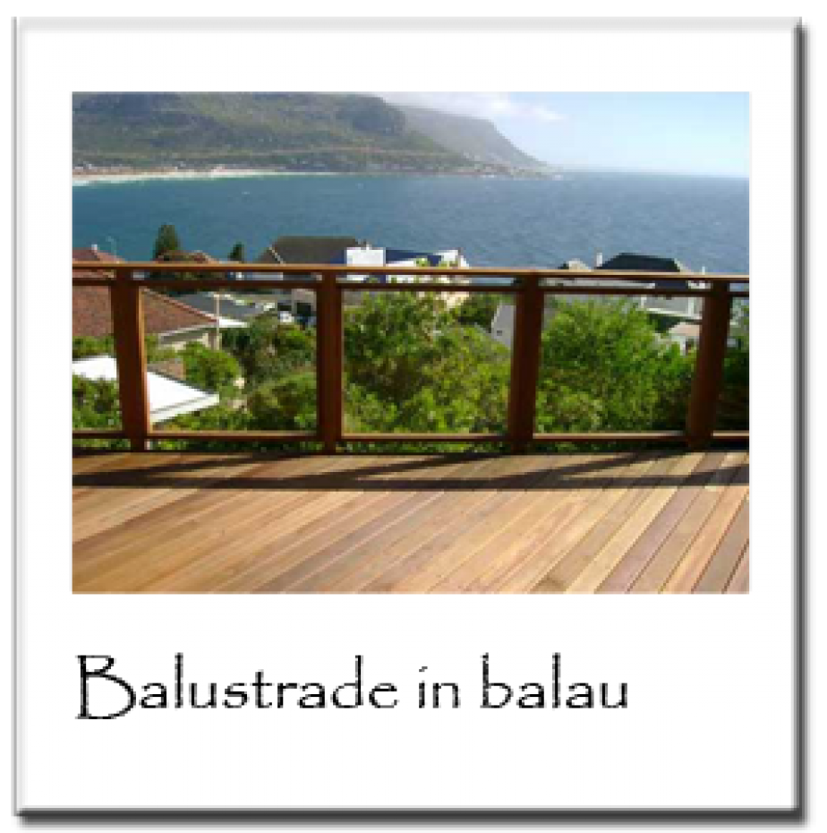 Balustrade in Balau1