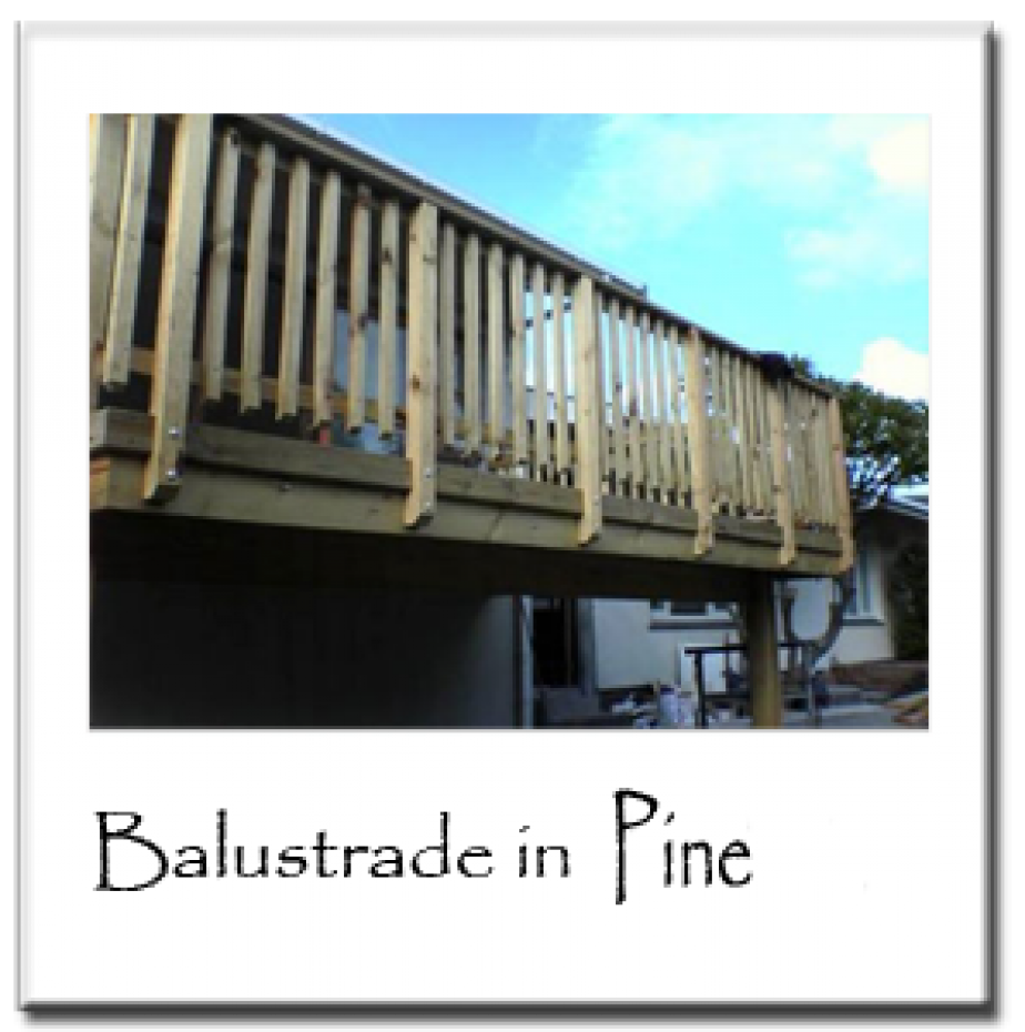 Balustrade in Pine