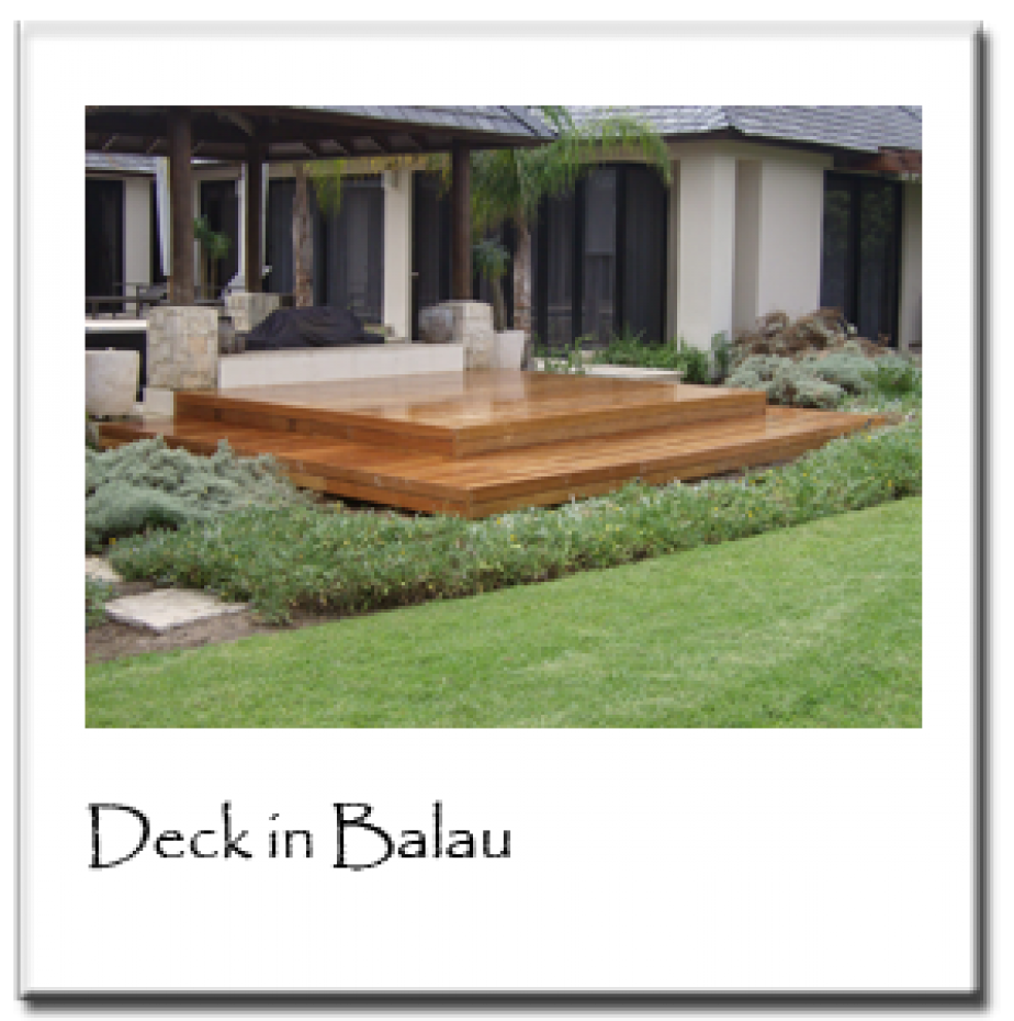 Deck in Balau