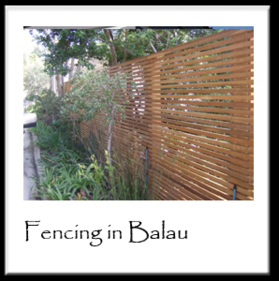 Fencing in Balau