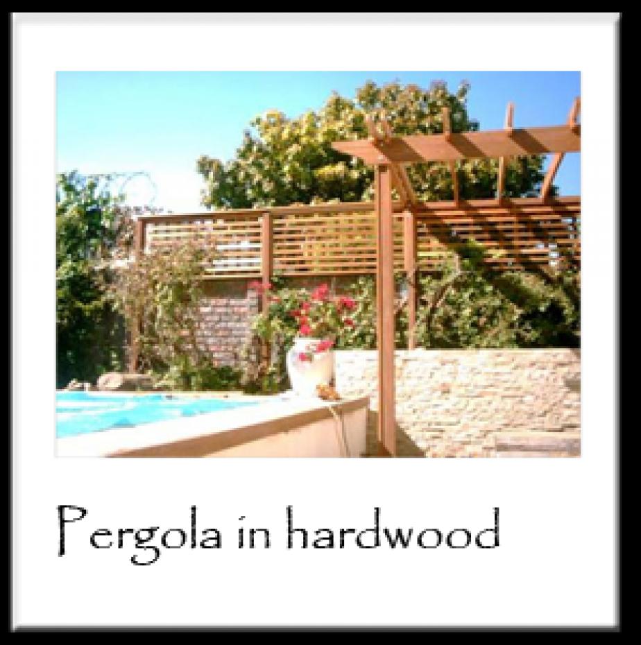 Pergola in Hardwood