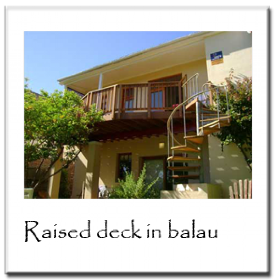 Raised Deck in Balau