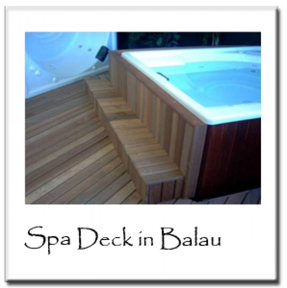 Spa Deck in Balau