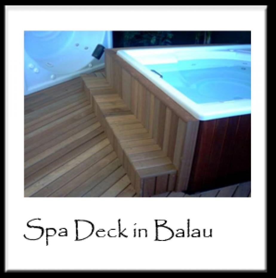 Spa Deck in Balau