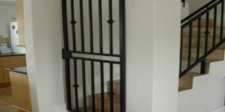 Security Gates Black Round Bar