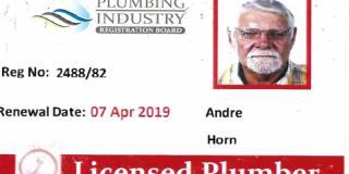 Plumbing Registration