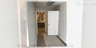 Hallway with Toilet — in Strand, Western Cape.