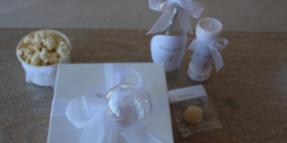 Customized and branded party treat boxes