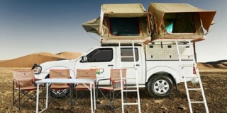 Nissan with two rooftop tents fully equipped