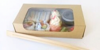 Sushi Box 6piece with Condiments.