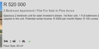 2 Bedroom Apartment  Flat for sale in Pine Acres