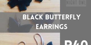 Black Butterfly Earrings