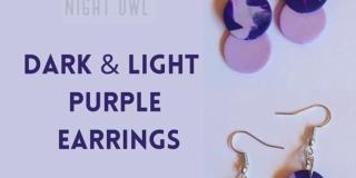 Dark & Light Purple Earrings